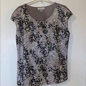 Liz Claiborne sleeveless sequin top
